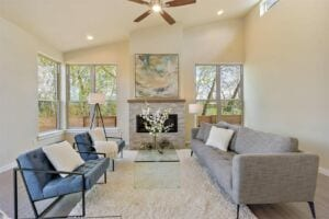 Verde Village Phase 2 Living Room With Fireplace