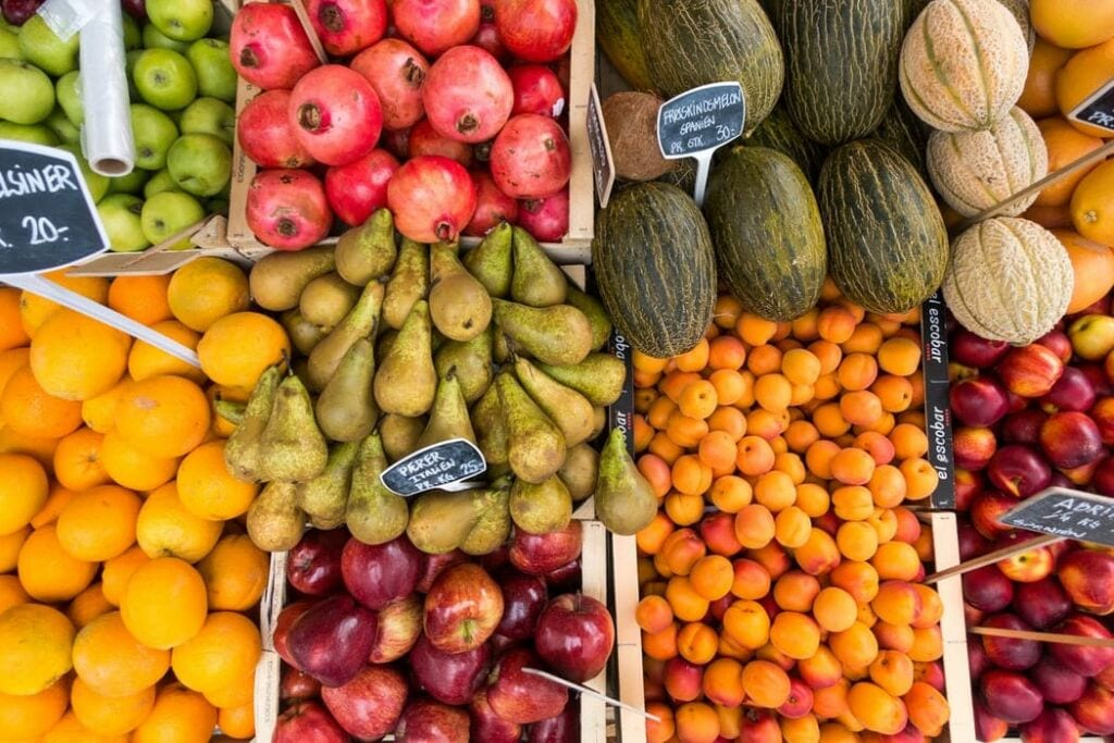 Buy local produce from your local farmer's markets