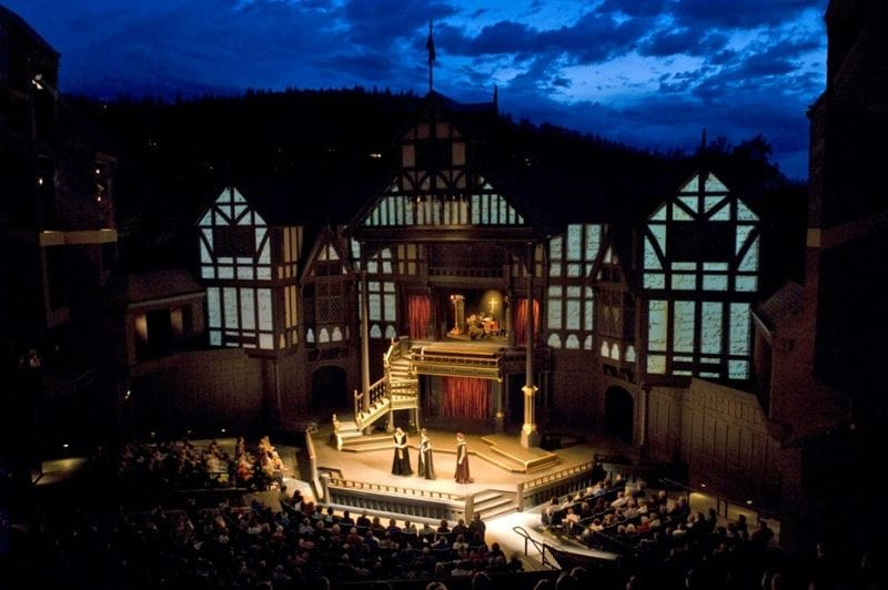 A play at the Elizabethan Theatre at OSF in Ashland, Oregon
