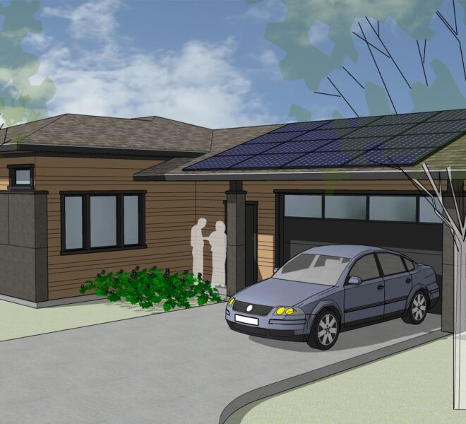 Kestrel Park Home Rendering Garage