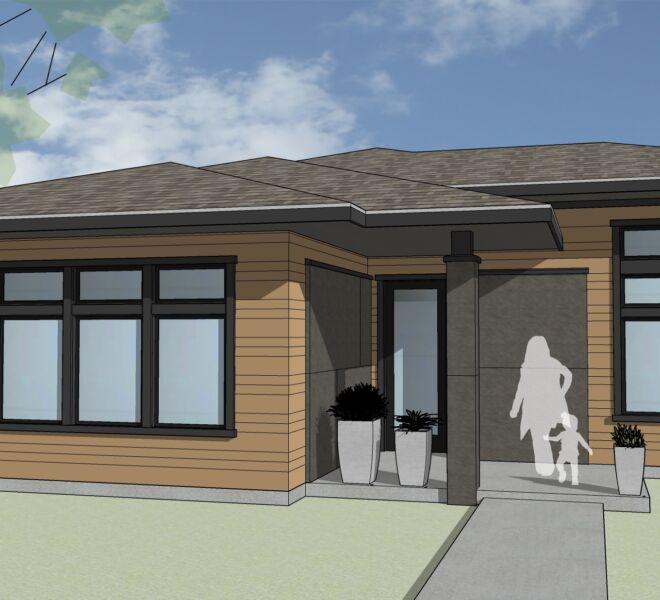 Kestrel Park Home Rendering Front Door
