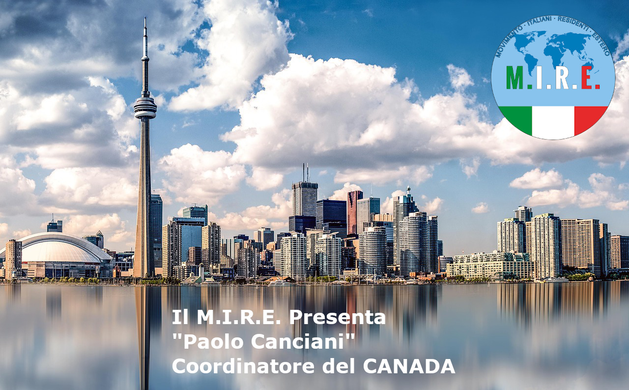 """Coordinatore Canada """"Paolo Canciani"""""""