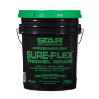 A green and black bucket