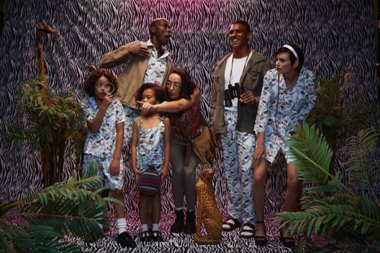 family in locally mae pyjamas