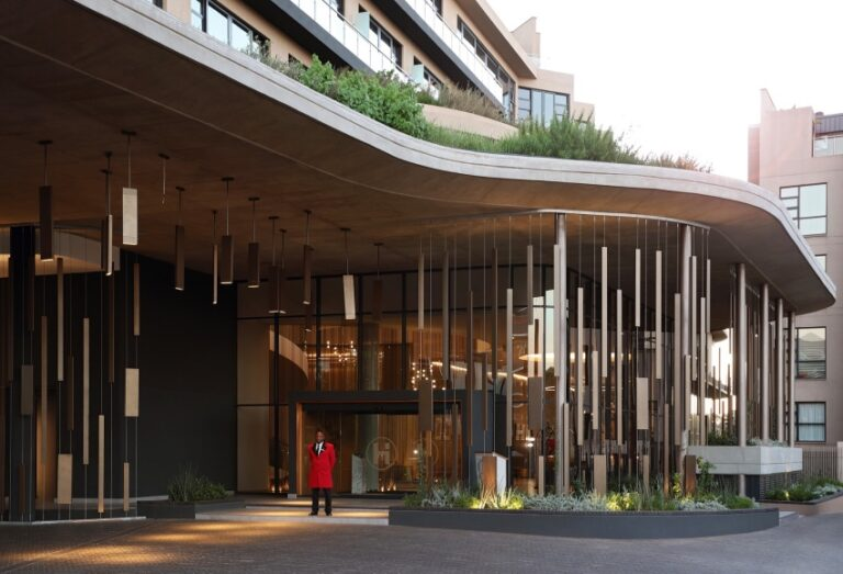 the houghton hotel entrance hello joburg