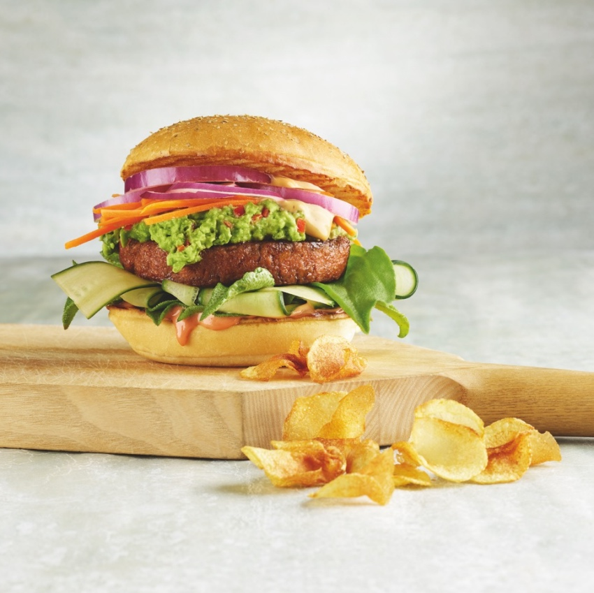 nestle burger on board with fries