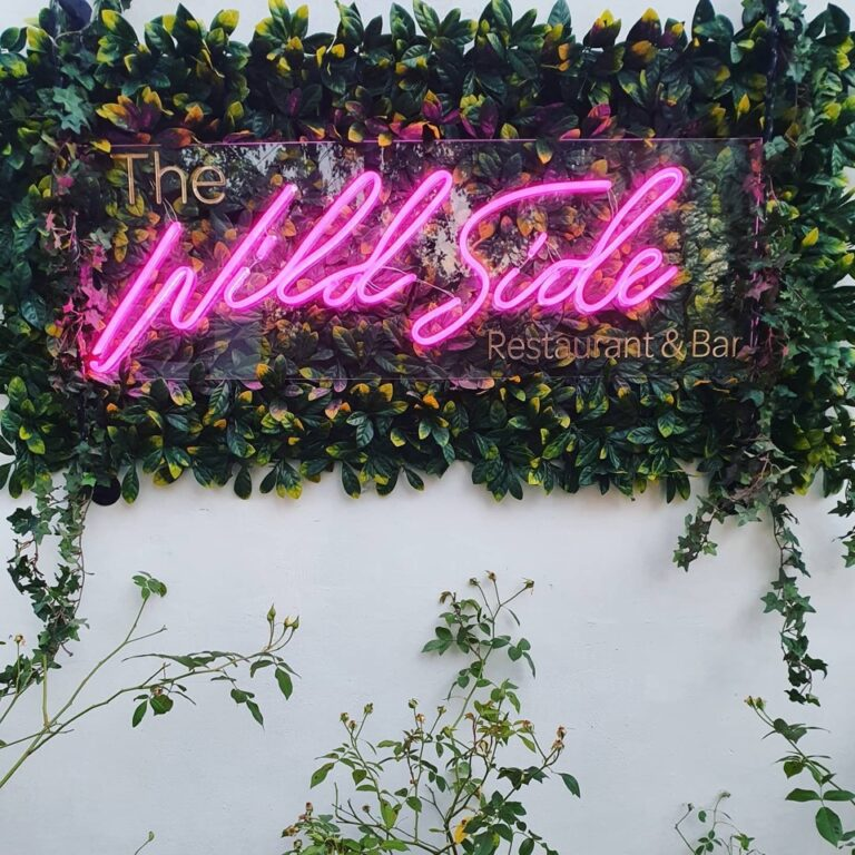 neon sign at the wildside in craighall