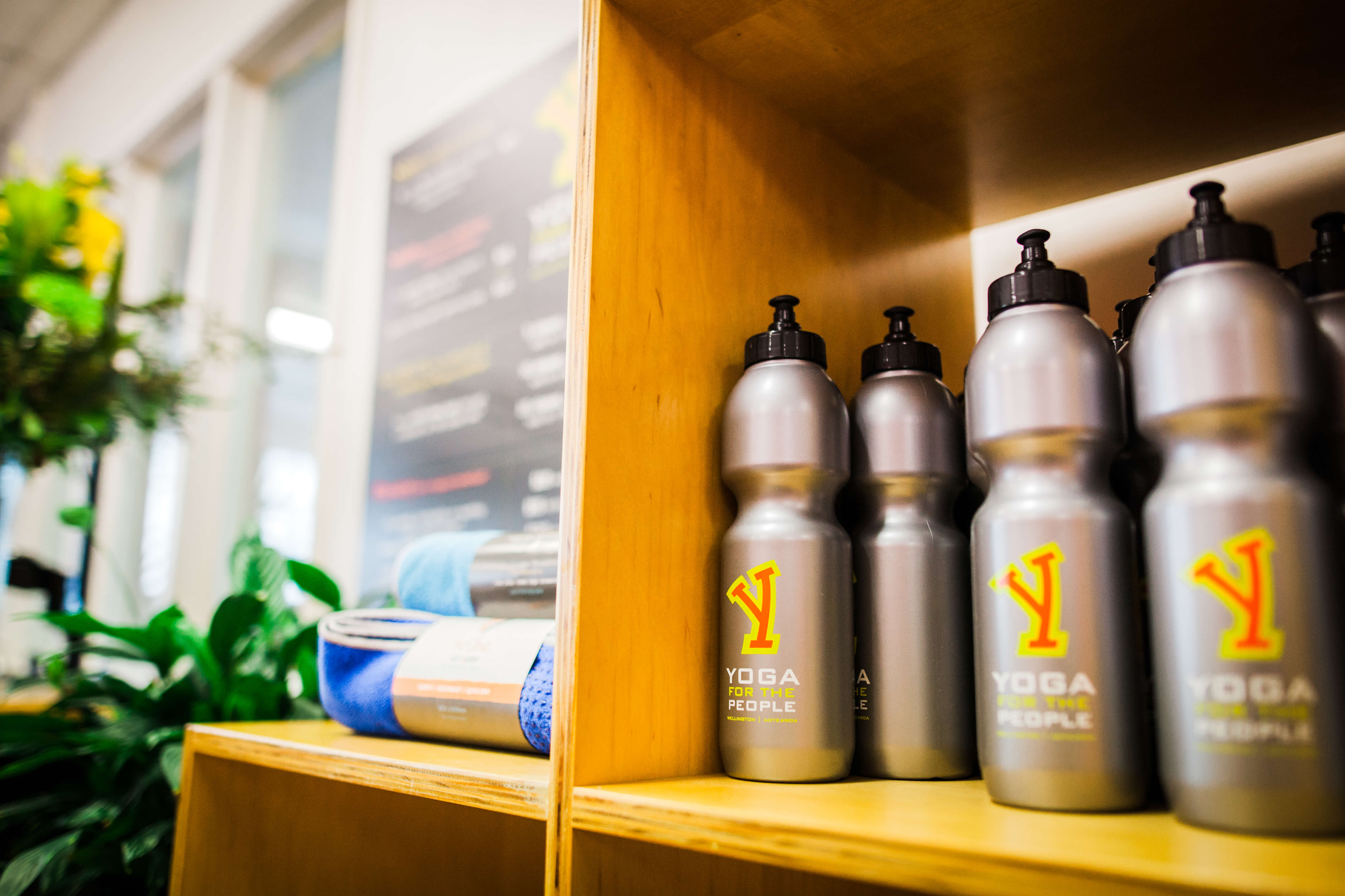 Our Wellington yoga studio offers facilities for making hot drinks, reading, and chatting.