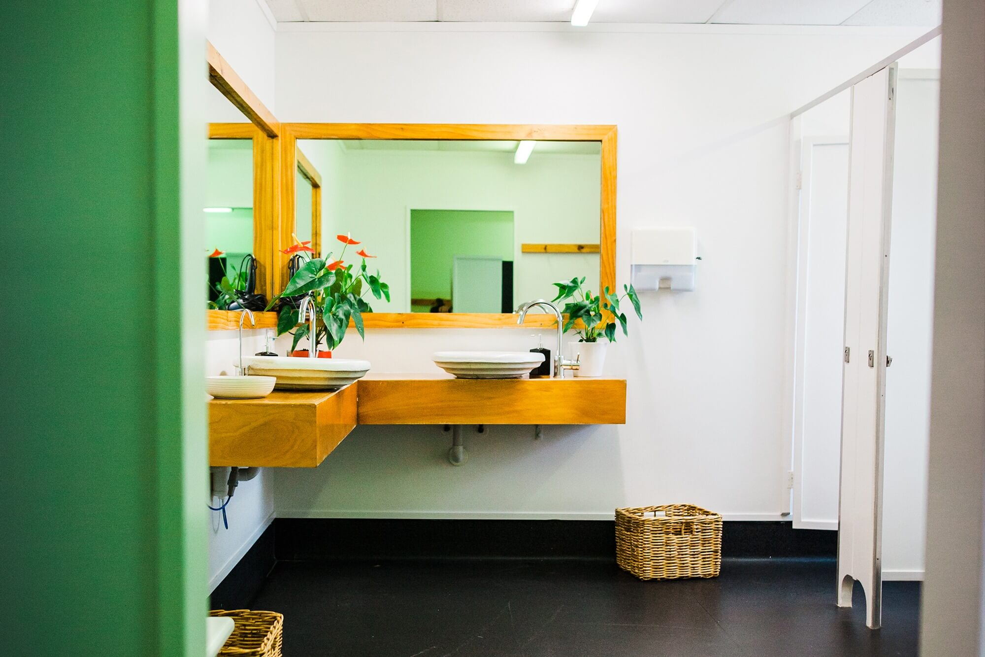 We have clean changing facilities in our yoga studio.