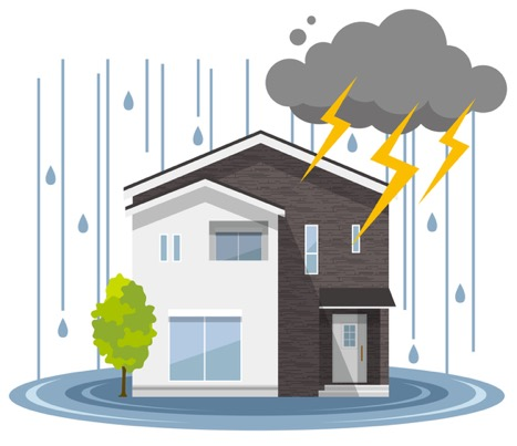 Water damage restoration at a house in Dallas, Texas