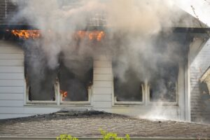 Fire and smoke damage restoration at a house in McKinney, Texas