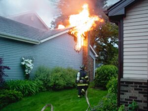 Fire damage restoration at a house in Flower Mound, Texas