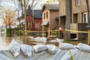 Flood damage restoration at a house in Arlington, Texas