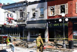 Building fire damage restoration in Dallas, Texas