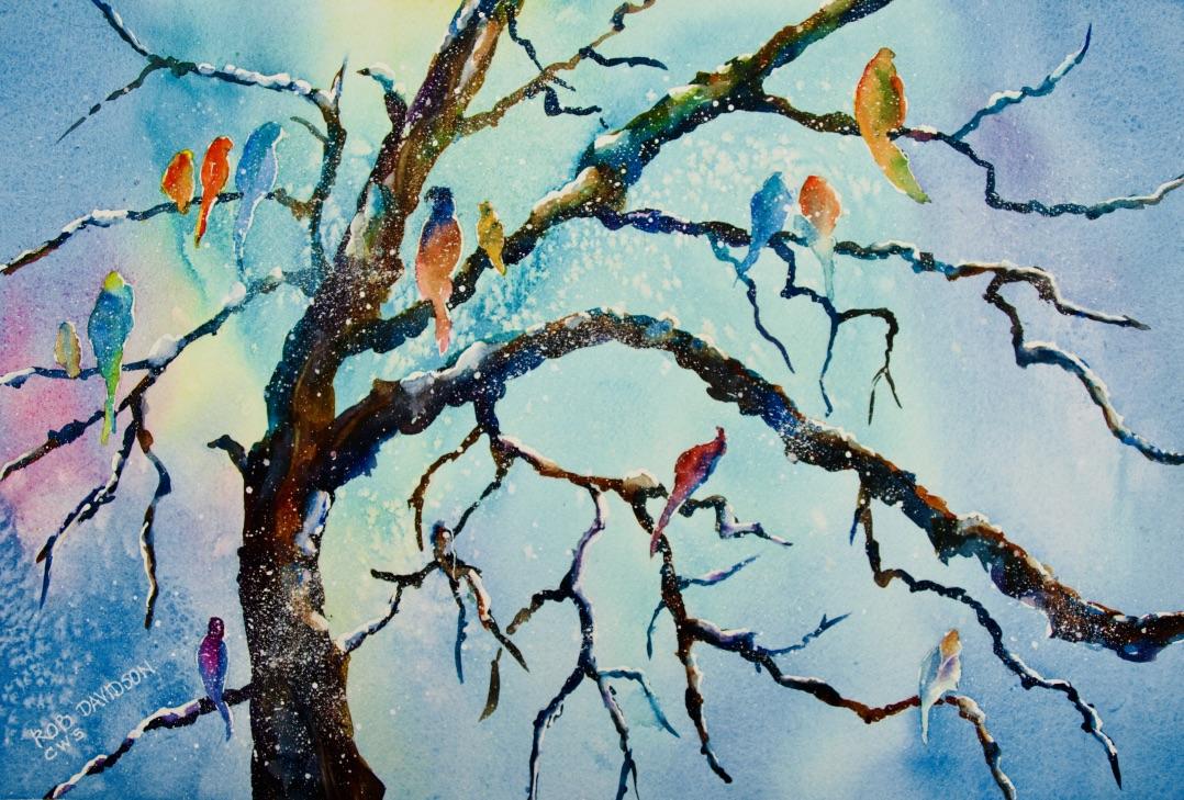 rad-bird-choir-18x12-painting