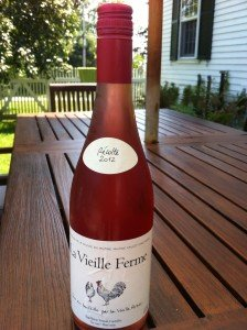 The rose of choice. French, screw top, cheap. All good!
