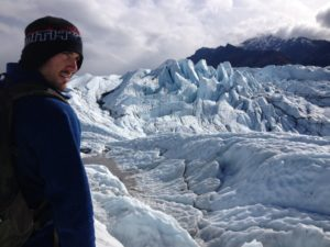 Standing in front of the Matanuska Glacier