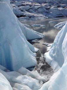 a Glacier Stream in Alaska
