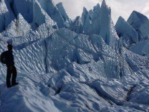 Hiking up the Glacier