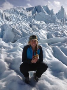 Standing on the largest car accessible glacier in the US