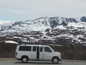 Van Camping in the Mountains of Alaska