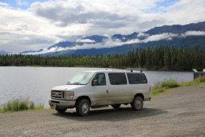 Camper Van between Tok and Haines Junction