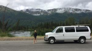 A great view with a Northwest Van Campers van