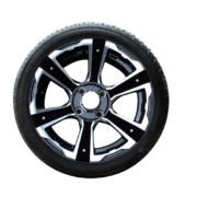 a close up of a wheel