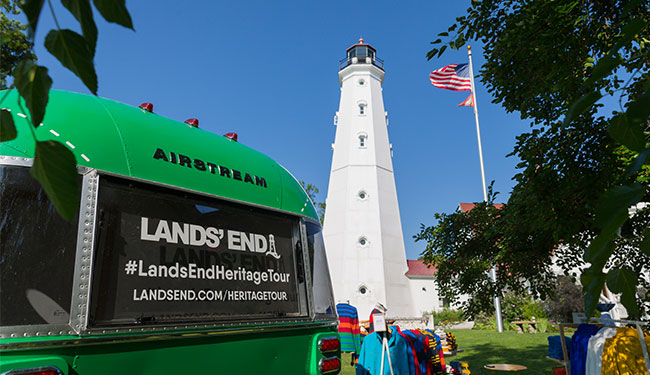 Lands' End Heritage Tour Bus at North Point Lighthouse