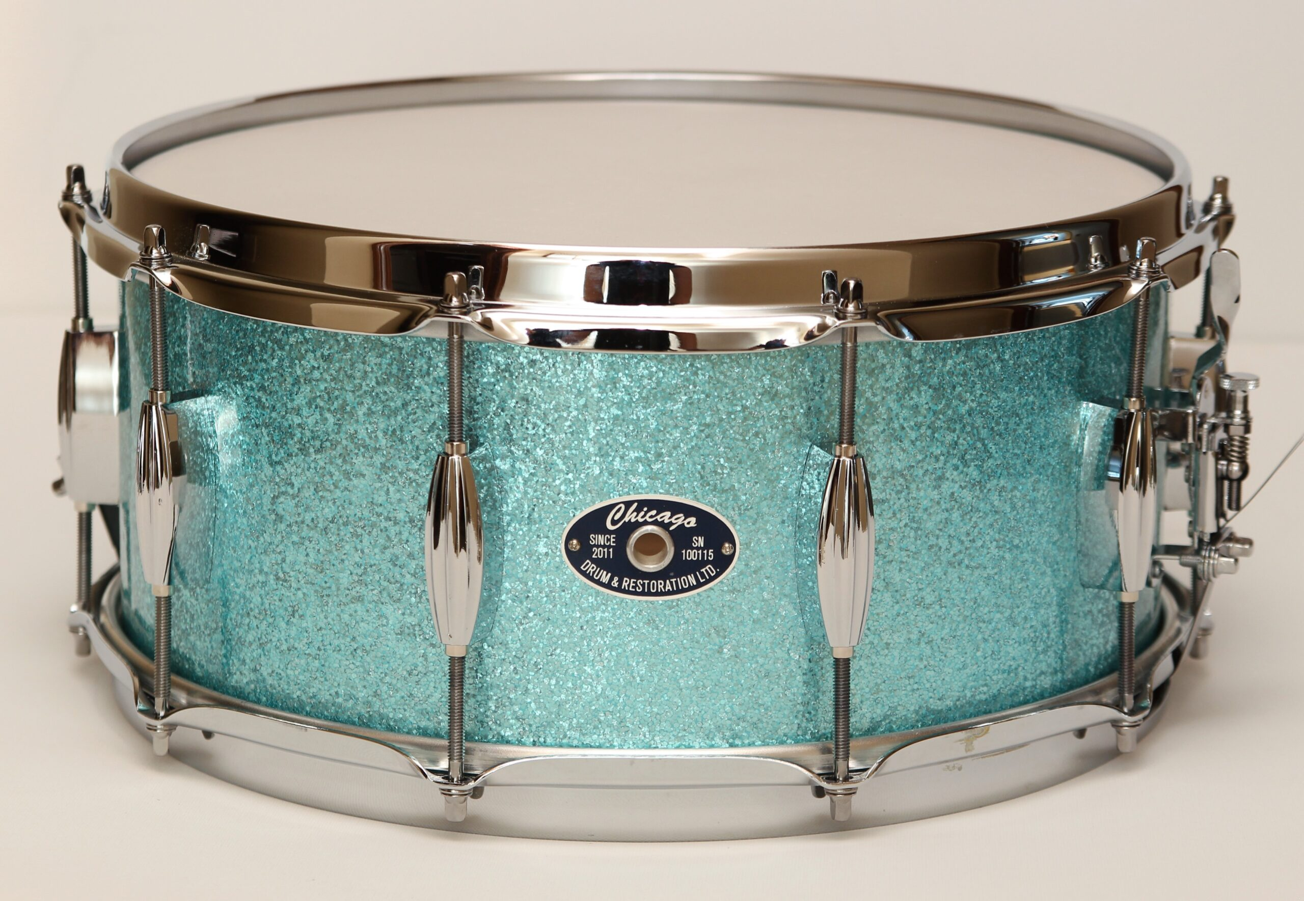 """6-1/2"""" Turquoise Sparkle Snare Drum"""