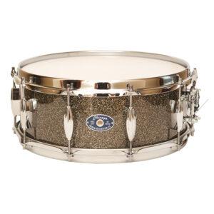 "5-1/2"" Grey Glass Glitter Snare Drum"