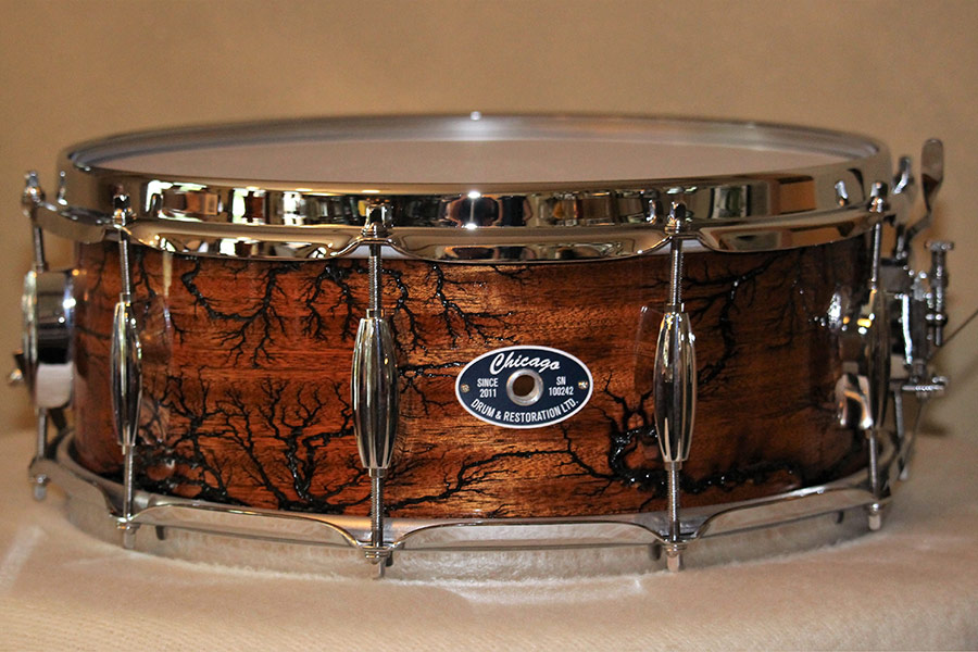 5.5 Inch Mahogany Fractal Snare Drum