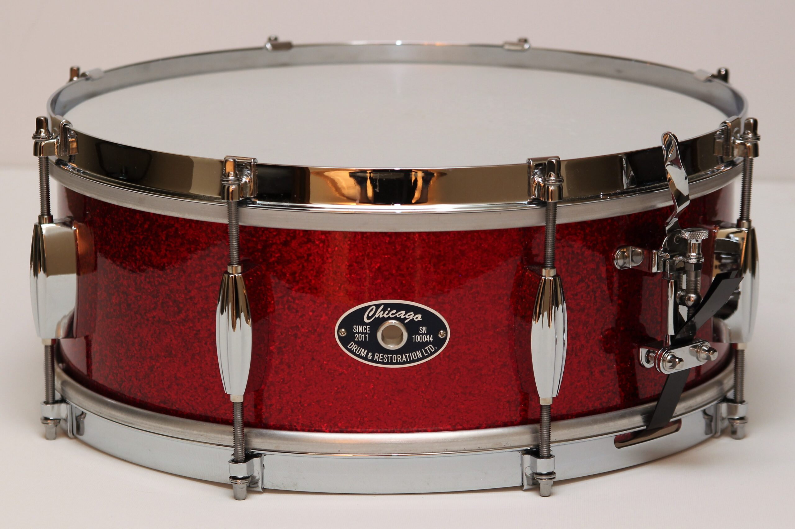 """5-1/2"""" Red Sparkle Snare Drum"""