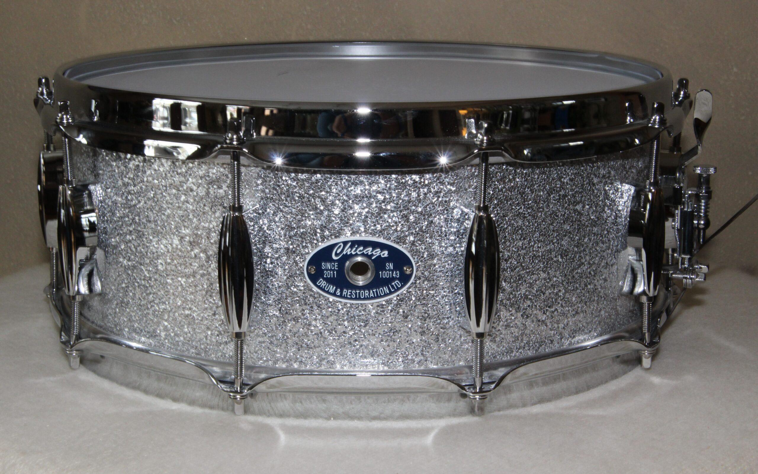 "5-1/2"" Silver Sparkle Snare Drum"