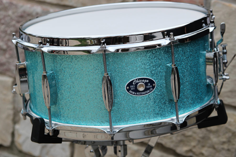 """6-1/2"""" Turquoise Glitter Snare Drum"""