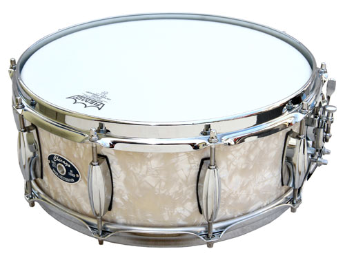 Antique White Pearl Snare Drum