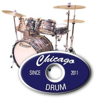 Copper Strata Set with Chicago Drum Logo