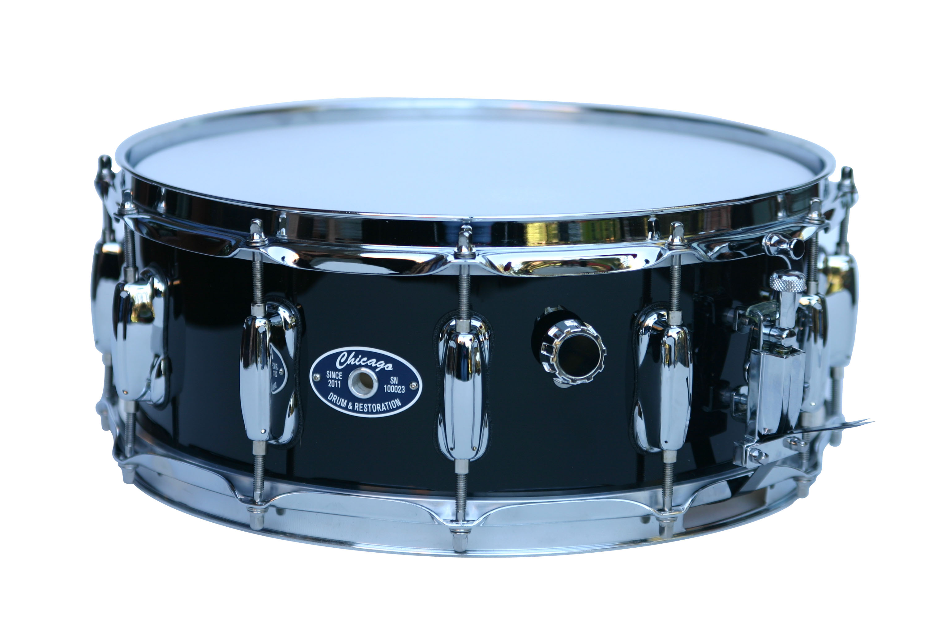 """5-1/2"""" Chicago Legend Snare in Black Gloss"""