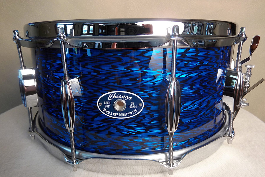 Blue Onyx Snare Drum
