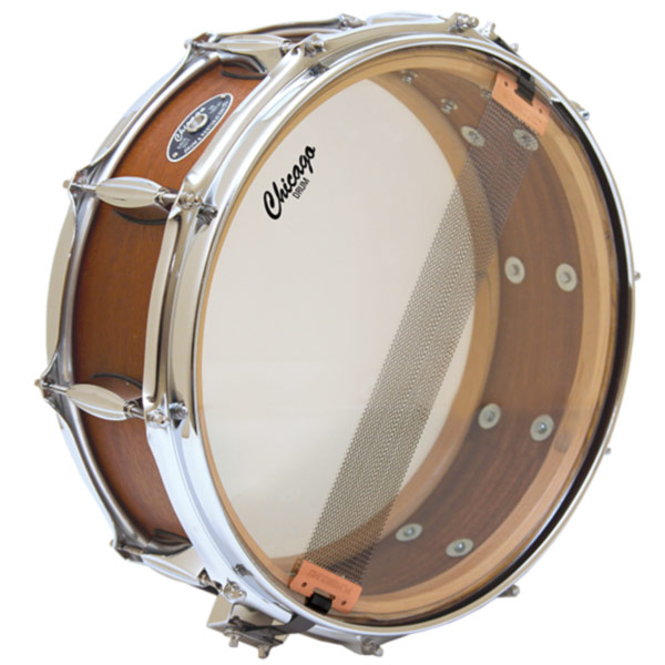 Mahogany Snare Drum with Inside View
