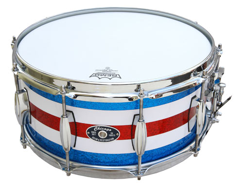 Red-White-Blue Sparkle Snare Drum