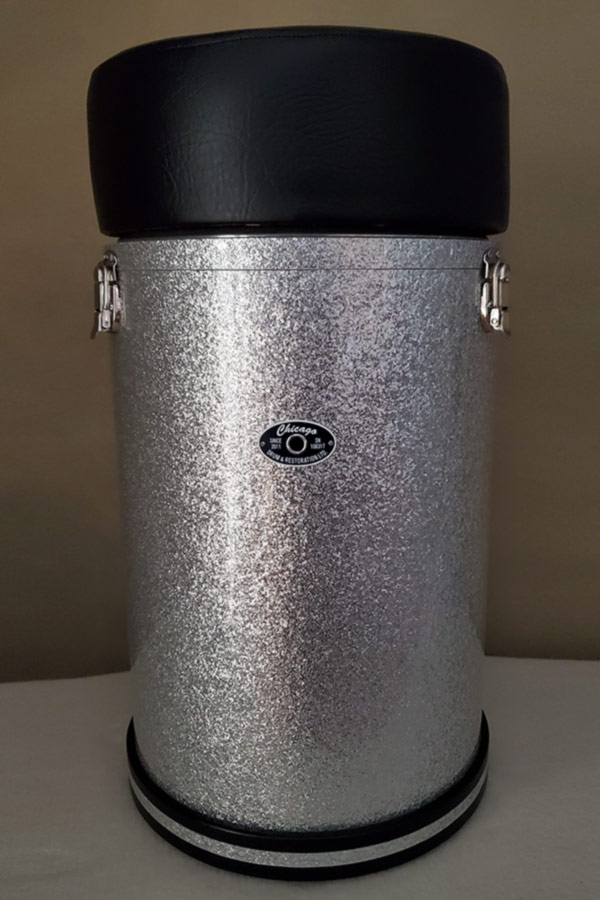 Silver Sparkle Canister Throne