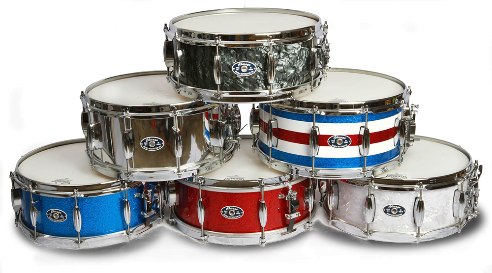 Stack of Chicago Drum Snare Drums