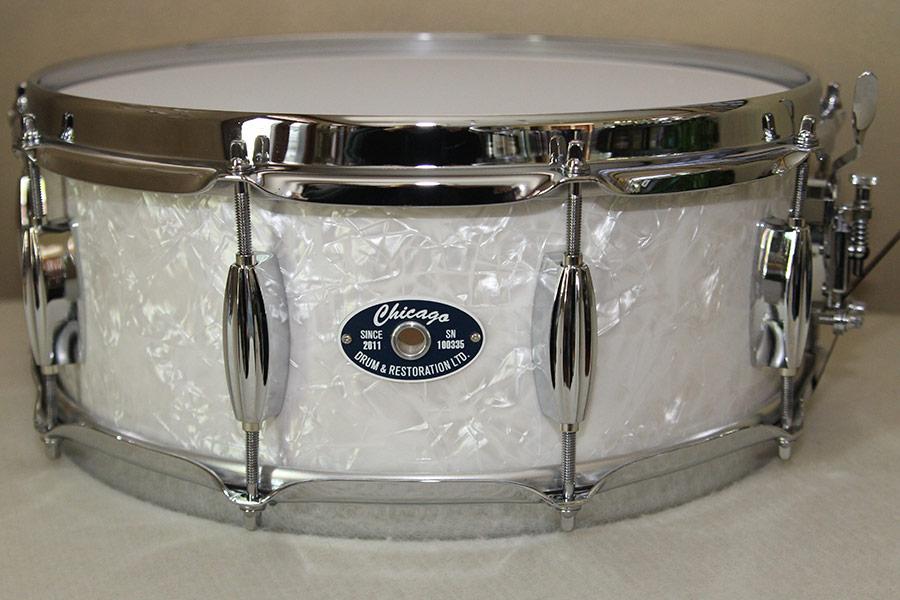 White Marine Pearl Snare Drum