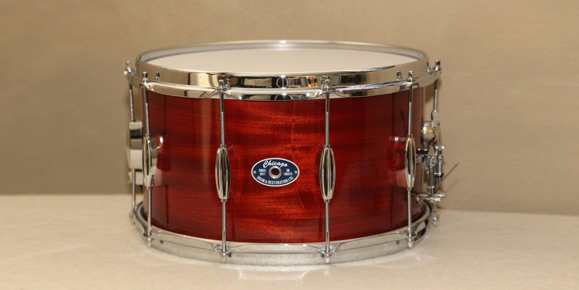 Mahogany Poplar Snare Drum