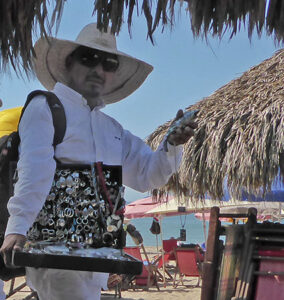 When you're on a beach vacation and approached for the umpteenth time by one of these guys, don't despair. Have fun instead. Feign interest, smile and then, in faux German, start talking gibberish, gesticulating wildly. He'll soon depart.