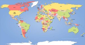 This is a map of the areas of the world where, according to my DNA report, I may have had distant ancestors. Pay particular attention to that island off the east coast of Africa, Madagascar – the one spot with which I appear to have no connection.