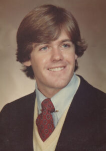This is me circa 1977, with the longest hair I've ever had – until now. Man, I was such a radical back then.
