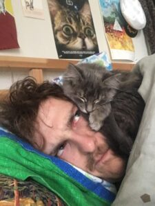 This particular evening I couldn't sleep at all. On the Other hand, my cat Chompers was blissfully unaware of my distress as he contentedly dozed off like a hibernating bear, sleeping peacefully on my face.