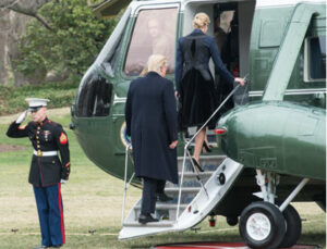 """Trump preparing to board Marine One for the final time, after getting fired by the American People. The reasons given for his abrupt termination were many, but boiled down to this: """"We (the American people) think you'd be happier selling condos, Donald."""""""